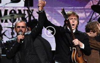 Paul McCartney y Ringo Starr tocaron juntos en Los Angeles -