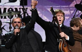 Paul McCartney y Ringo Starr tocaron juntos en Los Angeles