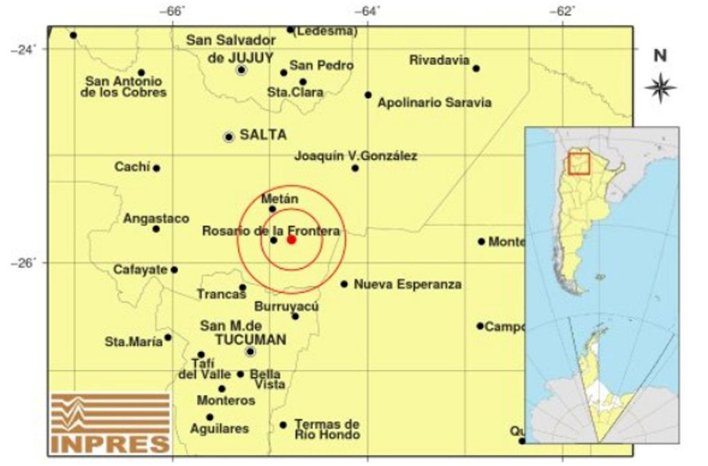 La zona donde se produjo el sismo. Crédito: Gentileza