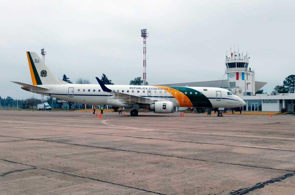 Primeros. El viernes pasado arribó el primer vuelo internacional, desde Brasil. <strong>Foto:</strong> Gentileza