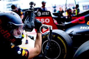 Video: Red Bull estableció un récord al marcar 1,91 segundos en un pit stop