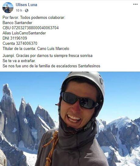 Tragedia: fallecieron dos montañistas argentinos mientras escalaban en Perú
