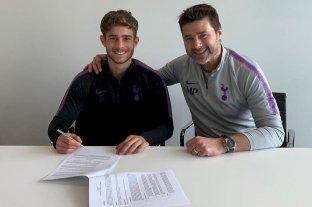 El hijo de Pochettino firmó su primer contrato en el Tottenham -