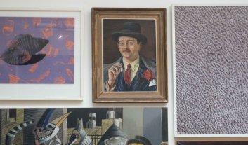 """Museo Tomado junto a Juan Cruz Pedroni - El hecho que las obras hayan sido donación del retratado """"Manucho"""" también genera un punto de interés para la reflexión y análisis. -"""