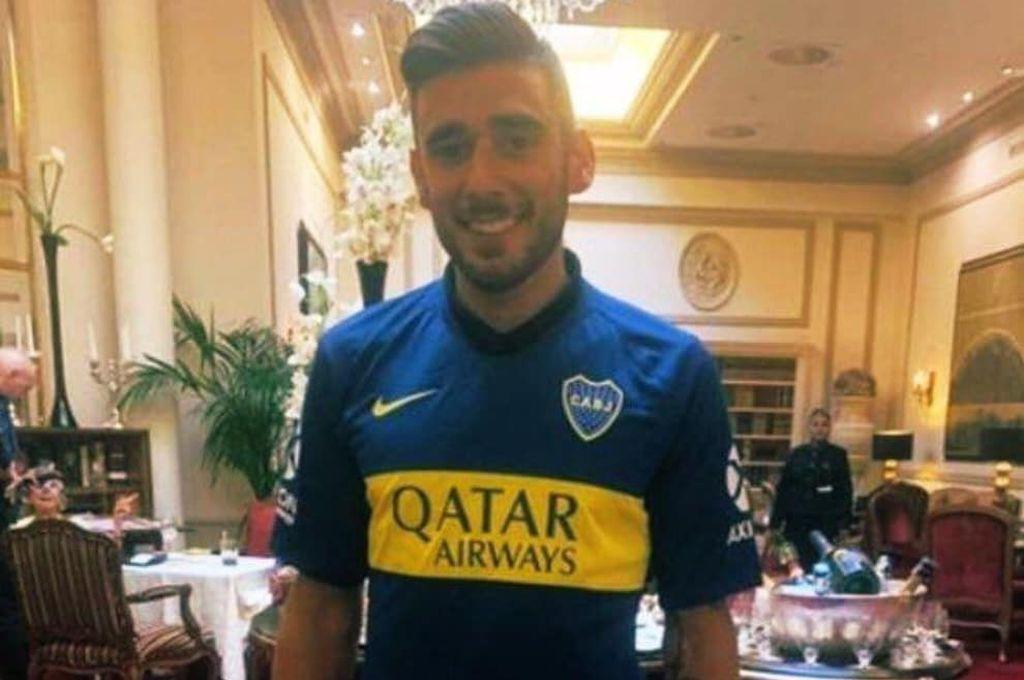Salvio ya posó con la camiseta de Boca