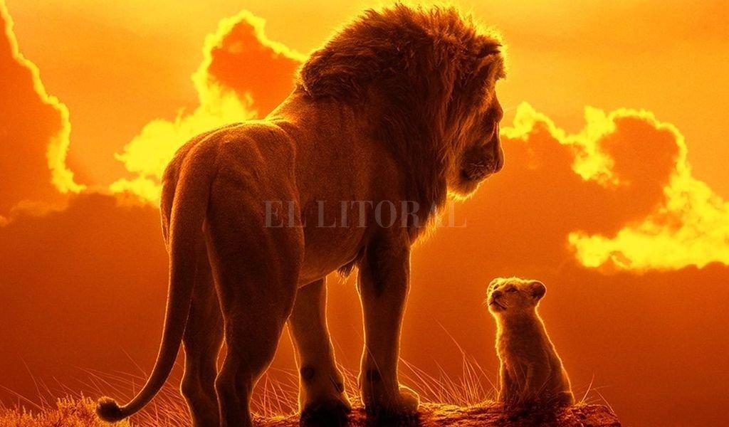 """Mufasa y Simba en la versión realista del clásico, renovada con la misma técnica que """"El libro de la selva"""". Crédito: Gentileza Disney Pictures"""