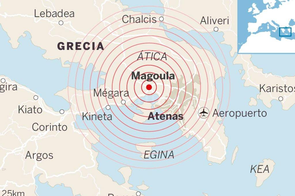 Un terremoto sacudió a Atenas