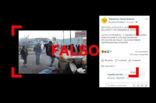 No, esta foto no es de un supuesto policía pateando una olla en la Argentina -  -