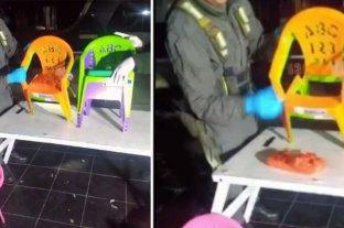 Ocultaban cocaína en sillitas plásticas -  -