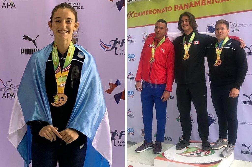 Lucia Gómez Iriondo y Julio Nóbile tras conseguir el bronce en sus disciplinas. Crédito: Gentileza