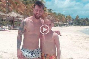 """""""Con Messi y Thaigo jugué al fútbol y me invitaron a nadar al bote"""" -"""