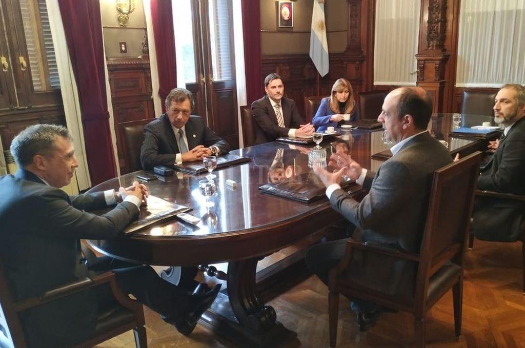José Corral se reunió con la Cámara Nacional Electoral. Crédito: Gentileza