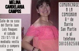 Buscan a Melina Campos en Tucumán