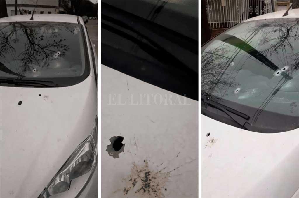 Apareció un auto baleado en barrio 7 Jefes