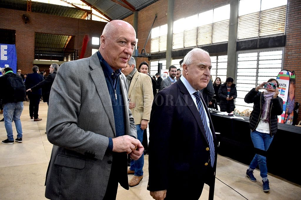 Antonio Bonfatti y Miguel Lifschitz. Crédito: Archivo El Litoral / Guillermo Di Salvatore