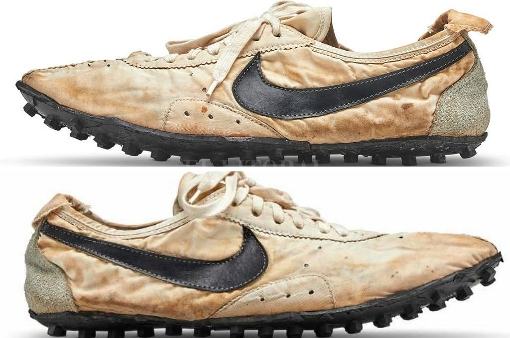 Zapatillas Nike subastadas en Nueva York. <strong>Foto:</strong> Sotheby's