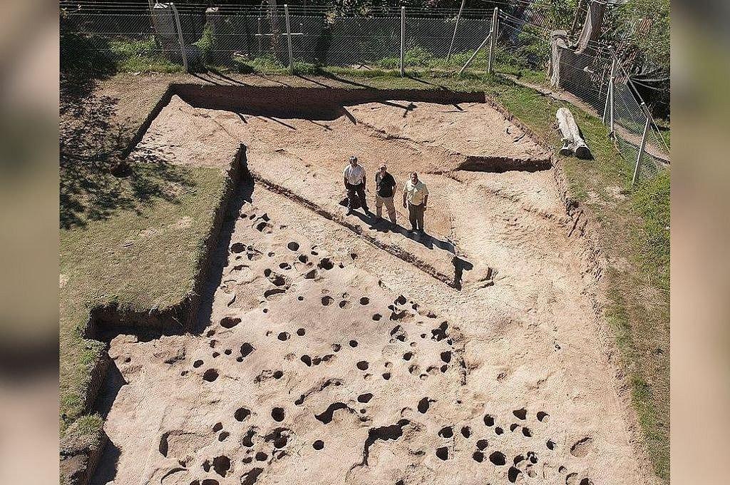 Actual sitio arqueológico donde se realizan las tareas de investigación y donde afirman se construyó el fuerte. Crédito: Transmedia VT