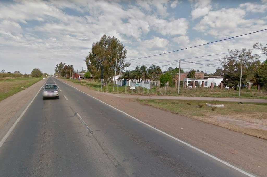 El camionero apareció a metros de la Ruta Nacional 11, a la altura de Recreo sur.  <strong>Foto:</strong> Captura de Pantalla - Google Street View