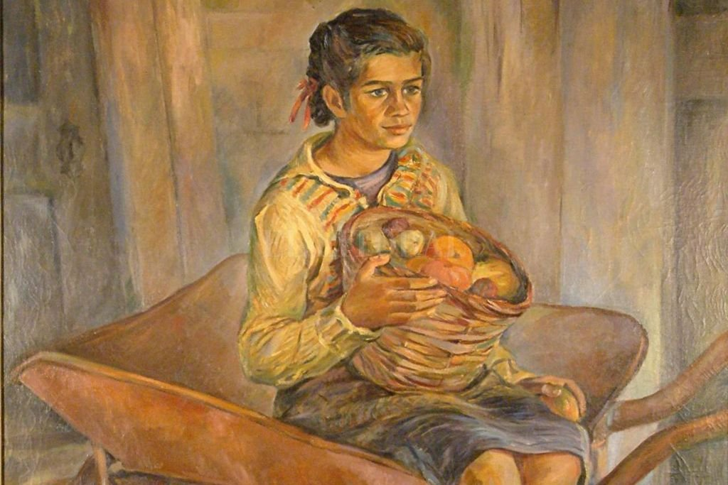 Fragmento de La hija del Quintero. Técnica: óleo. Año: 1945. Patrimonio del Museo Provincial de Bellas Artes Rosa Galisteo de Rodríguez. <strong>Foto:</strong> Gentileza MMAV
