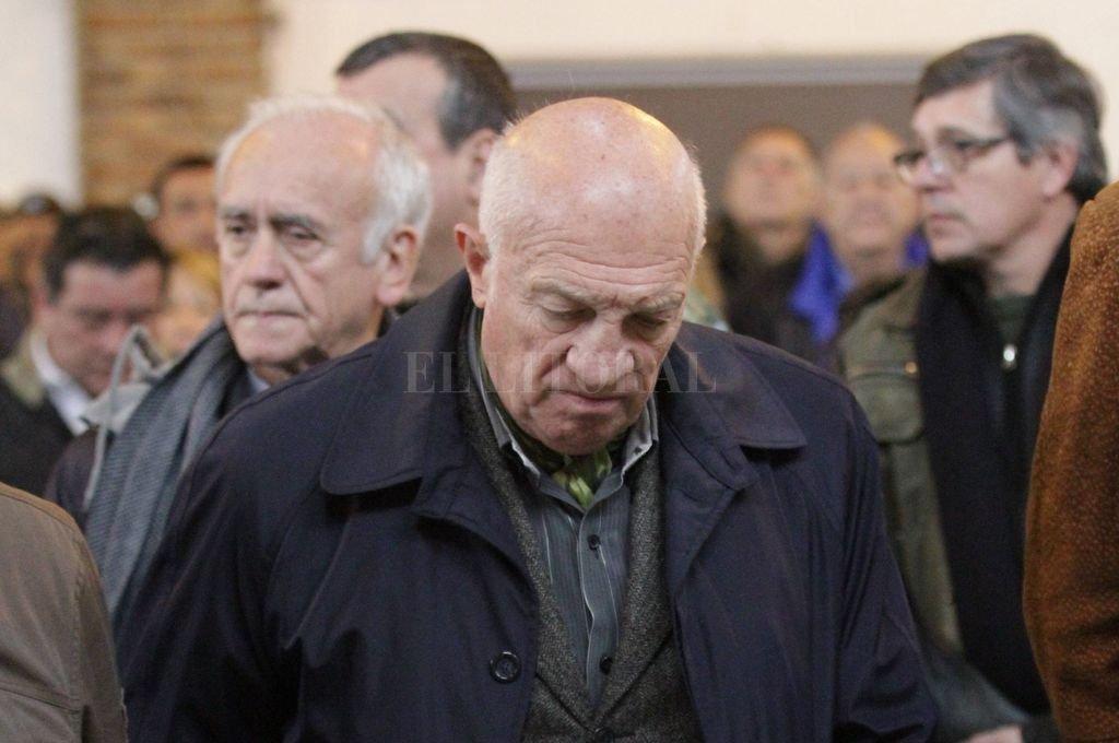 Aldo Rico estuvo presente en el acto en homenaje al teniente primero Rubén Márquez.  <strong>Foto:</strong> Mauricio Garín
