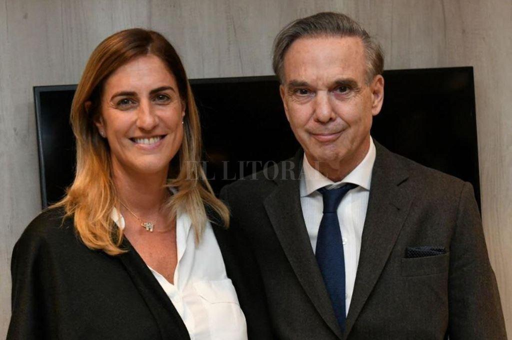 Cesira Arcando junto a Miguel Ángel Pichetto.  <strong>Foto:</strong> Gentileza FE