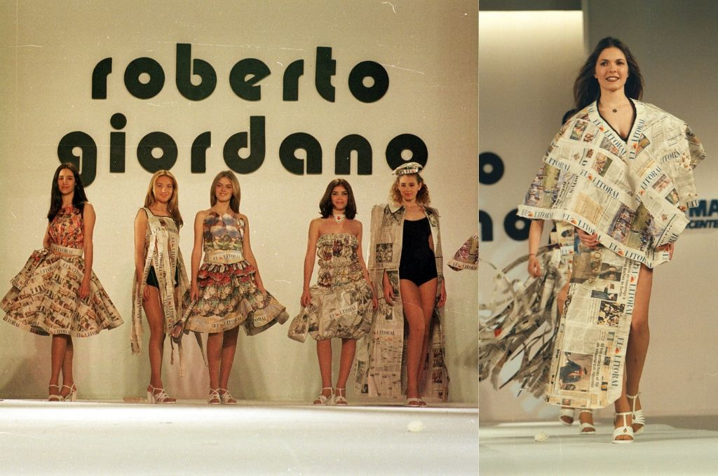 Los diseños se hicieron con retazos coloridos de las páginas del diario. <strong>Foto:</strong> Archivo El Litoral
