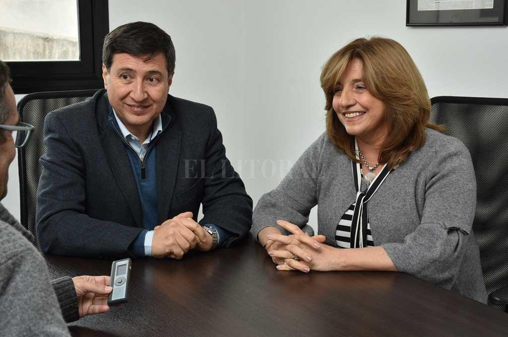 Silvina Frana y Daniel Arroyo expresaron su preocupación por la cuestión social. Crédito: Luis Cetraro