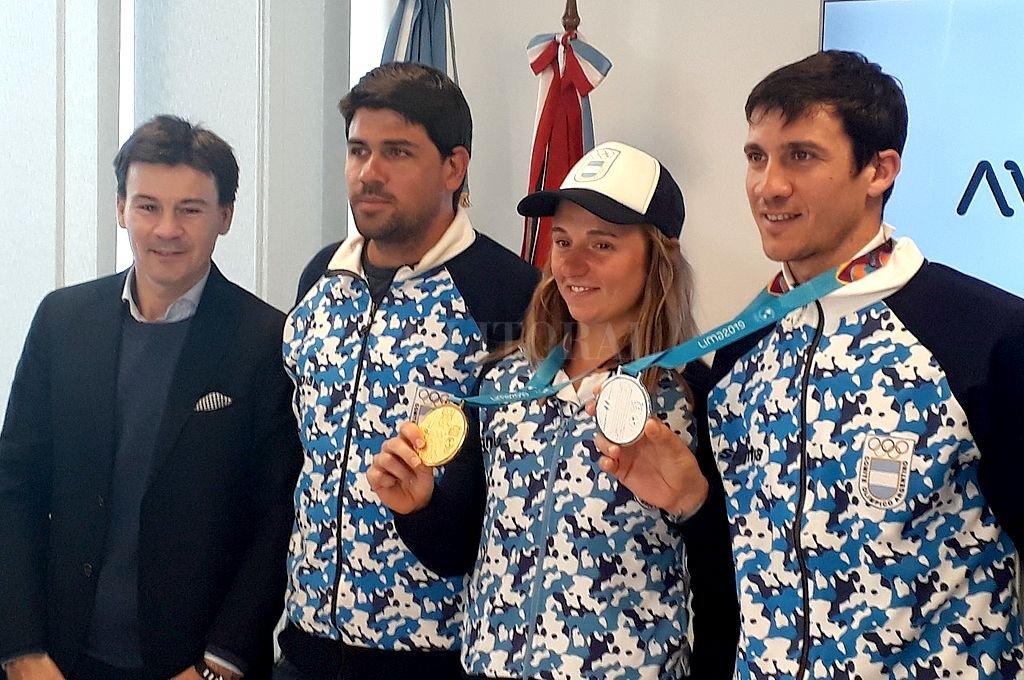 HAY EQUIPO. Coria, Schwank, Podoroska y Bagnis comentaron sobre su estadía en los Juegos de Lima, con marcado éxito para el deporte argentino. Crédito: El Litoral