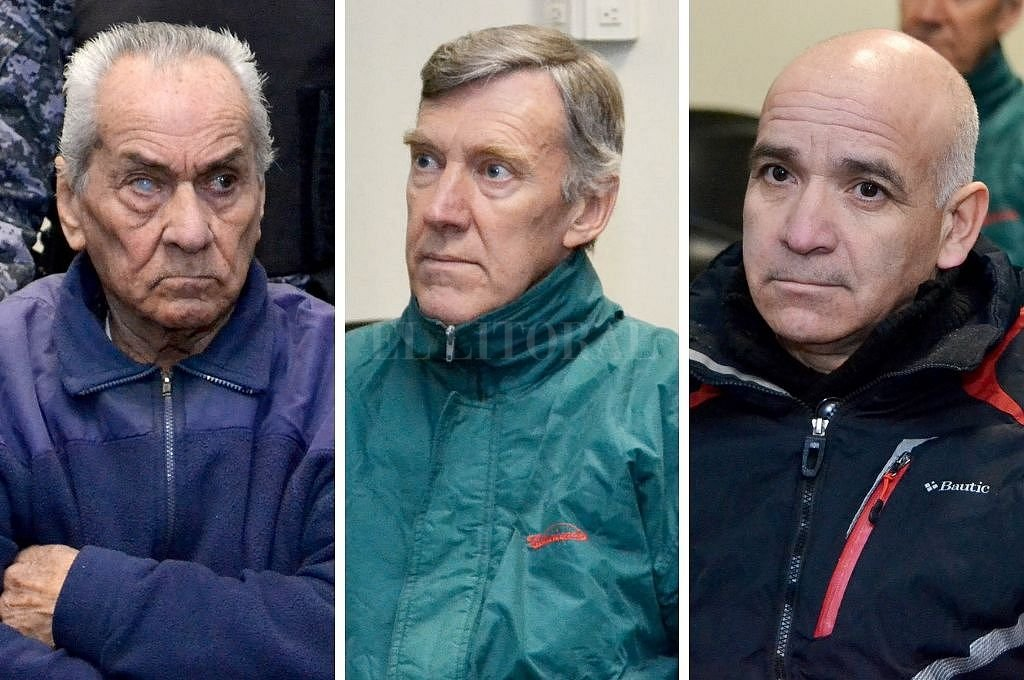Los dos religiosos acusados, Nicola Corradi (italiano de 83 años) y Horacio Corbacho (argentino, de 59) y el empleado Armando Gómez (de 49) <strong>Foto:</strong> Telam