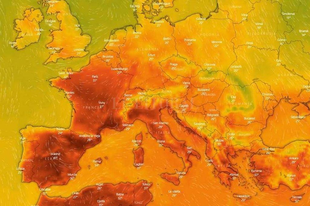 El verano europeo tuvo temperaturas récord. <strong>Foto:</strong> Captura digital