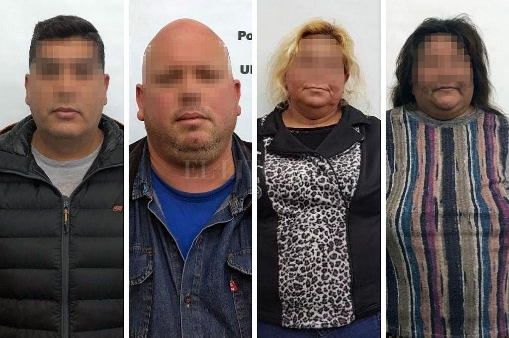 Los cuatro detenidos en los operativos realizados por la PSA. Crédito: Gentileza