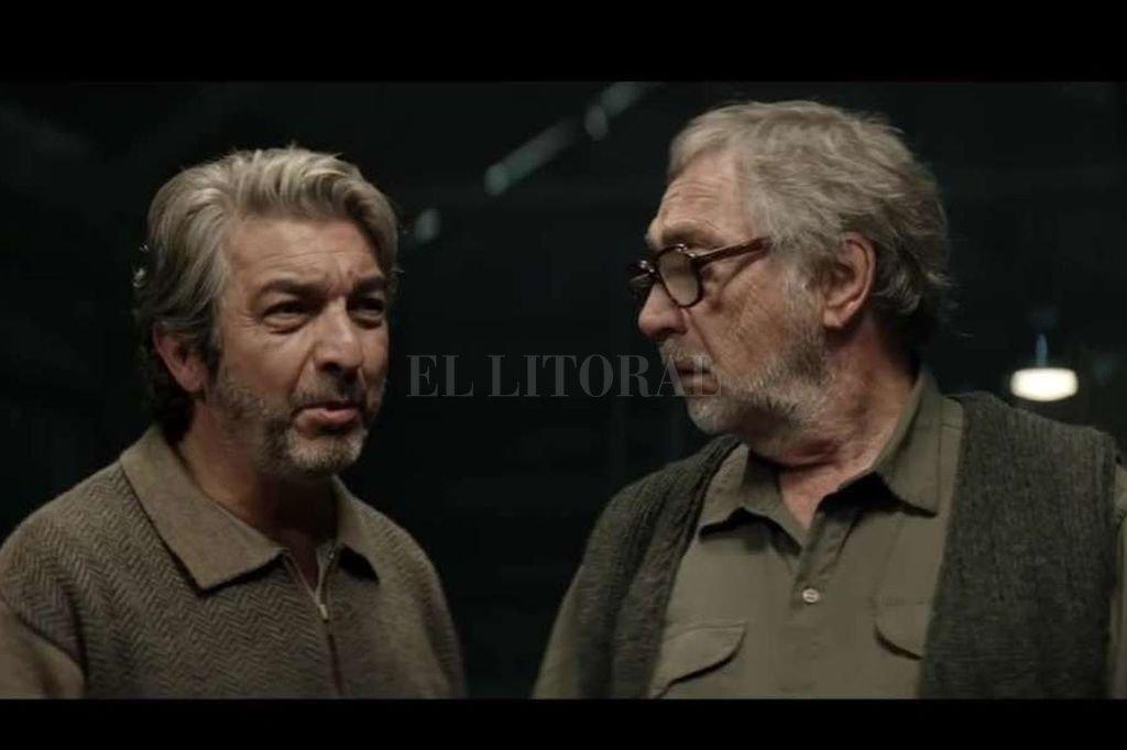 """Ricardo Darín y Luis Brandoni en """"La odisea de los giles"""", de próximo estreno. <strong>Foto:</strong> Gentileza Mod Producciones / K&S Films / Kenya Films"""
