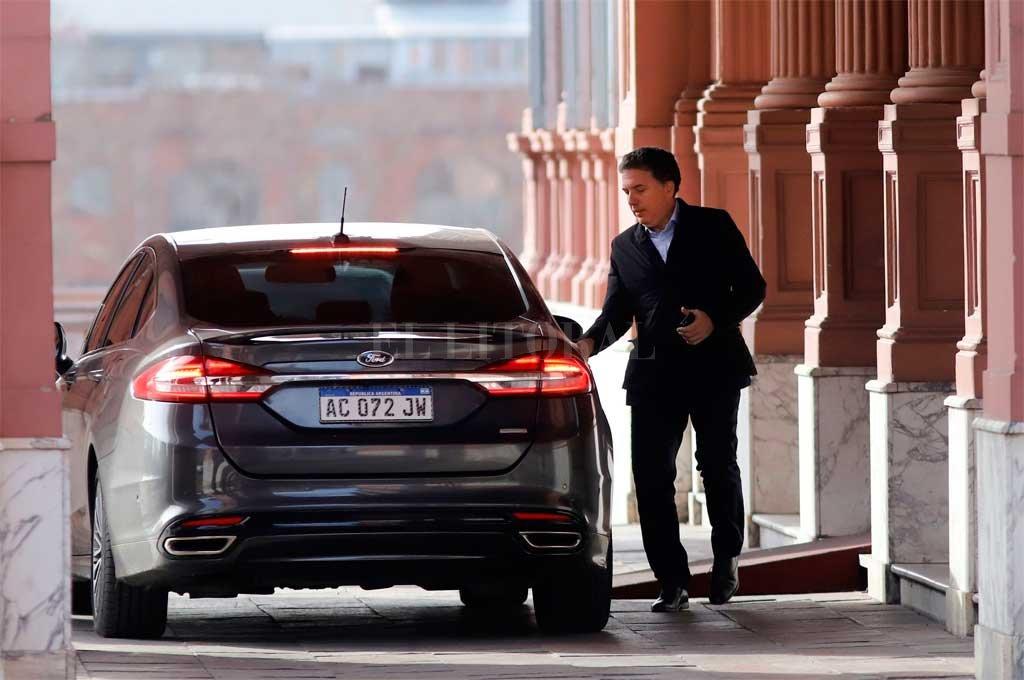 El ministro Dujovne este lunes llegando a Casa Rosada <strong>Foto:</strong> Noticias Argentinas
