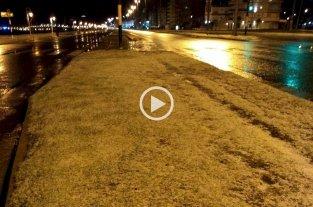 Nevó en Mar del Plata