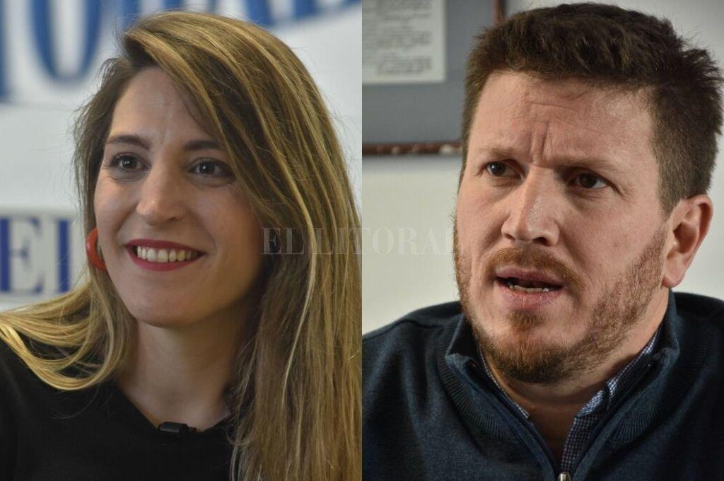 Manuela Castañeira y Federico Angelini, en un mismo sobre. Crédito: Archivo El Litoral