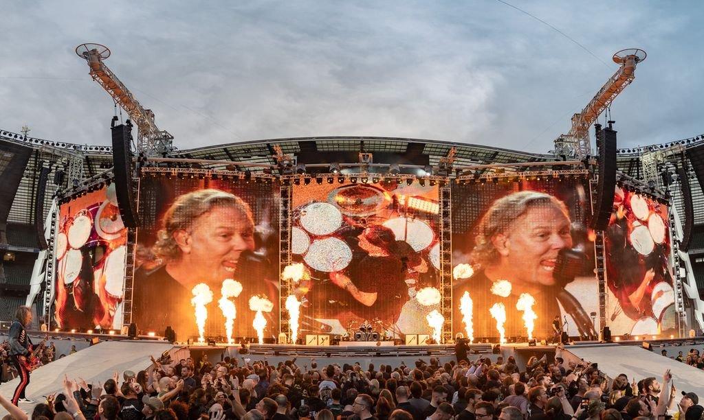 Los californianos encabezados por James Hetfield y Lars Ulrich llegarán tres años después de su último show en el país. <strong>Foto:</strong> Gentileza producción