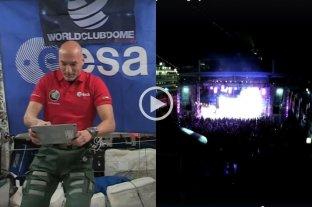 Un astronauta italiano se convirtió en el primer DJ desde el espacio