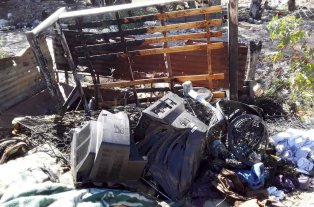 Se incendió una casa en Varadero Sarsotti