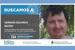 Continúa la búsqueda nacional de Germán Biondi