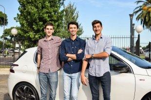 Un entrerriano creó una empresa que recaba datos de autos usados - De derecha a izquierda: Lucas Abriata, Tomás Galuccio (de Paraná) y Tomás Venturo, creadores de una empresa única en el país. -