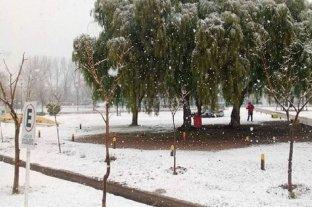 Nevó en La Pampa