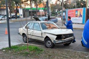Fuerte choque en Bulevar y Rivadavia -