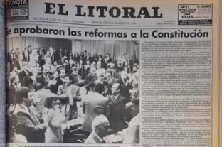 Las tapas de los diarios que reflejaron la Convención Constituyente de 1994