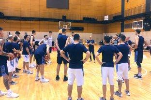 El seleccionado argentino de básquet realizó su primer entrenamiento en Japón