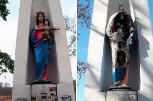 Vándalos destruyeron una imagen de María Auxiliadora en San Pedro de Jujuy