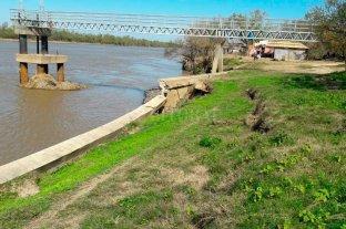 Preocupan desmoronamientos en la zona de la toma de agua de Colastiné norte