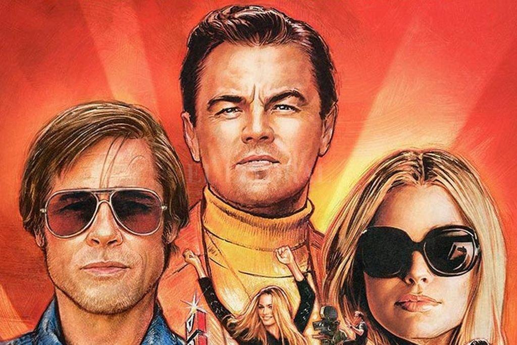 El actor Rick Dalton (Leonardo DiCaprio) y su doble de riesgo Cliff Booth (Brad Pitt) cruzarán caminos con Sharon Tate (Margot Robbie). <strong>Foto:</strong> Gentileza Sony Pictures