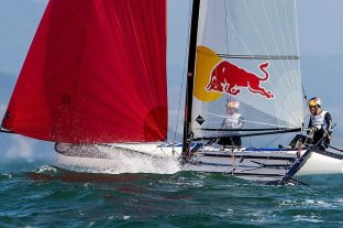 La dupla Lange-Carranza Saroli terminó quinta en clase Nacra 17 de vela