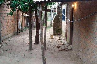 """""""No era mi mujer"""" dijo el femicida,  pero aceptó la condena a perpetua - Dos puñaladas aplicó Gómez a Schucharra, el 22 de julio de 2017, en una vivienda de Santa Rosa de Calchines."""