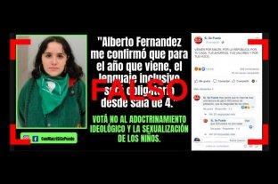 """Es falso que Ofelia Fernández dijo: """"Alberto Fernández me confirmó que el lenguaje inclusivo será obligatorio"""" -  -"""